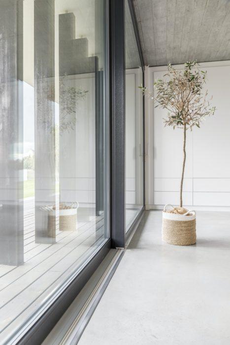 Window wall in living room